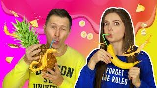 УГАДЫВАЕМ какие фрукты в СМУЗИ! УГАДАЙ ВКУС СМУЗИ 🐞 Эльфинка