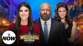 Live WrestleMania Axxess tour with Triple H and Stephanie McMahon: WWE NOW