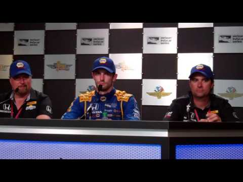 Alexander Rossi press conference at the 2016 Indianapolis 500 ...