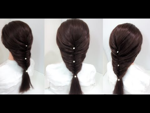 Easy Mermaid Braid: Hairstyles for medium hair