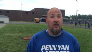 Brian Hobart, Penn Yan Lacrosse Coach, NYSPHSAA Semis 06/08/16