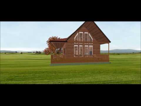 Conestoga Log Cabins Kit Tour - Aspen Chalet 24' x 40' with 3 BR | 2 BA | 1,440 SQF