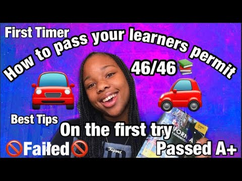 🚘HOW TO pass the learners Permit 🚗(ON THE FIRST TRY)!!
