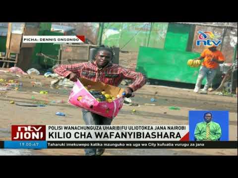 Polisi wanachunguza uharibifu uliotokea Nairobi