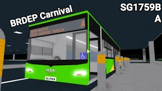 [ROBLOX Barrage Depot Carnival | SG1759B | NL323F A22] SGBus Transit BRDEP Shuttle A Hyperlapse