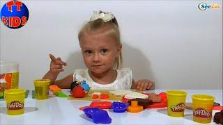 Пластилин Плей До Play Doh набор для Сэндвичей, Ярослава мастер класс по сэндвичам Play Doh Серия 6!