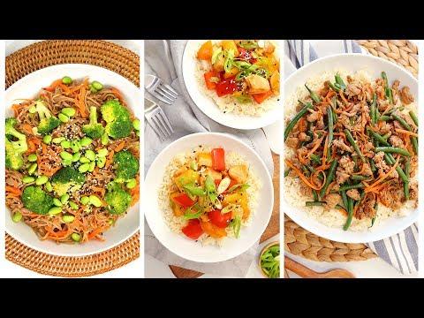 3 Stir Fry Recipes | Quick + Healthy Weeknight Dinner Recipes