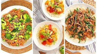 3 Stir Fry Recipes | Quick + Healthy Weeknight Dinner Recipes