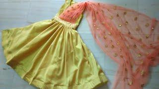 Beautiful drape dress making (Easy way)