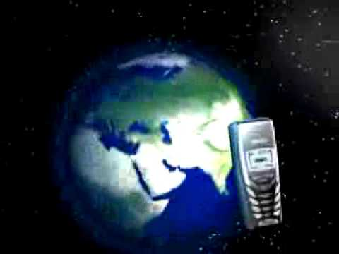 Cell Phone and Globe 3D
