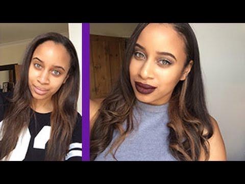 Toning My Brassy Relaxed Hair Using Purple Shampoo Youtube