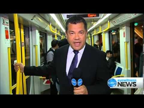 Ten Eyewitness News Sydney - Inner West Light rail service problems (2/6/2014)