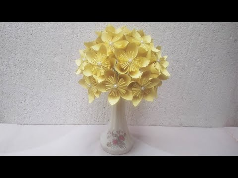 DIY Flower Vase How To Make A Flower From Colour Paper Creative Ideas