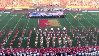 Pitt State Marching Band - Sept. 7th, 2013 (National Anthem)