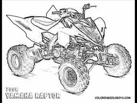 coloringbuddymike atv coloring pages youtube