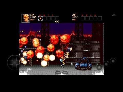 [60 FPS] MD.emu Emulator 1.5.11 for Android - Contra: Hard Corps [720p HD] - Sega Genesis - 동영상