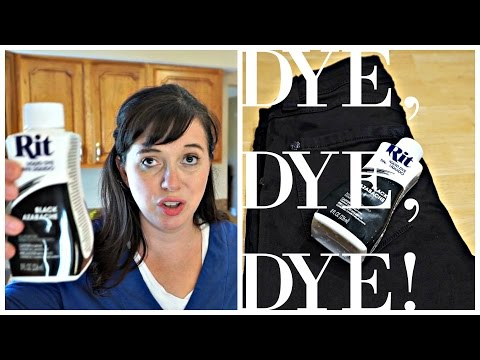 HOW TO DYE YOUR CLOTHES WITH RIT DYE