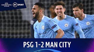 PSG v Manchester City (1-2) | Mahrez Free-Kick Secures Away Win | Champions League Highlights