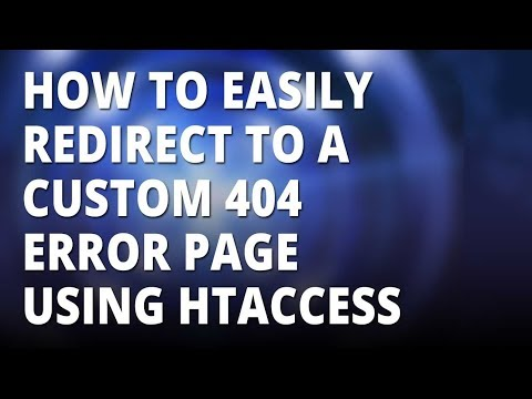 How To Redirect To A Custom 404 Page With Htaccess 👈