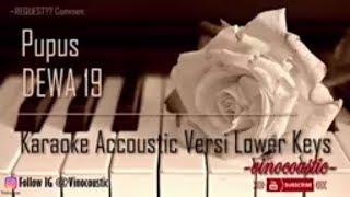Dewa 19 Pupus Karaoke Akustik Versi Lower Keys