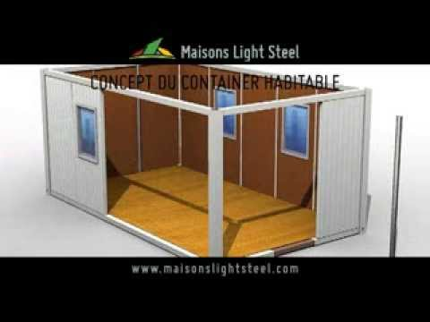concept container habitable youtube. Black Bedroom Furniture Sets. Home Design Ideas