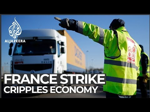 France pension strike cripples economy, businesses