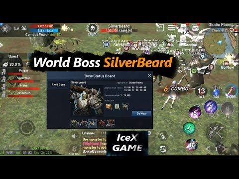 Lineage 2 Revolution Farm World Boss SliverBeard & Monster S Codex