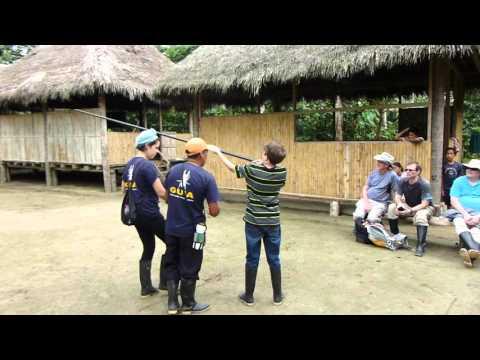 Mar 2016 - Blow Gun Practice in the Amazon - Ahuano, Ecuador