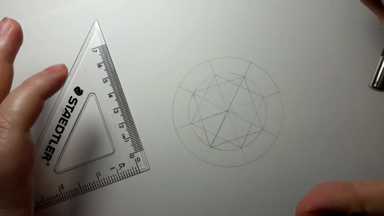 Line Drawing Diamond : How to draw out a round diamond youtube