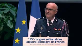 [CongrèsSP2018] Allocutions de président FNSPF et du ministre de l'Intérieur aux sapeurs-pompiers