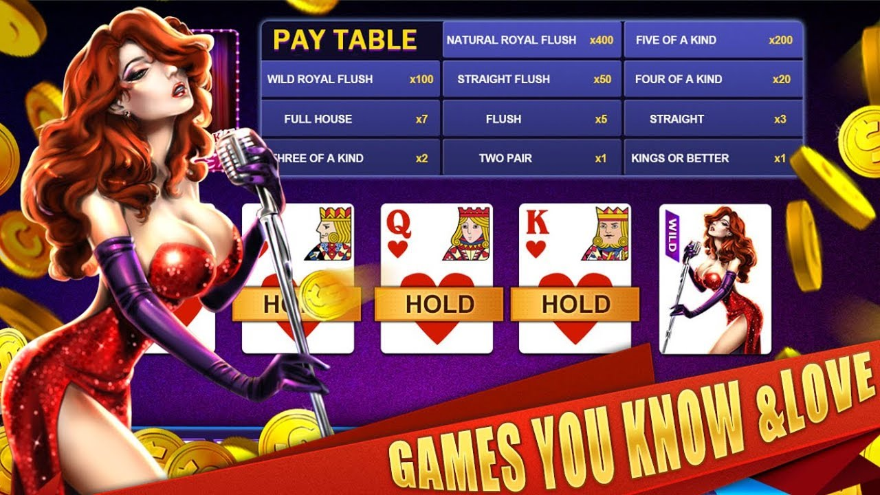Hot Video Poker Game **FOUR OF A KIND ** WIN with SEXY GIRL SEXY JOKER AS  WILD 20X BIGWIN!