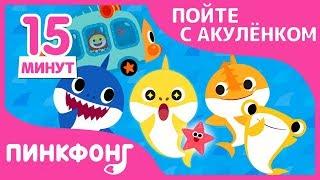 Акулёнок в Автобусе и другие песни | Пойте с Акулёнком | + Сборники | Пинкфонг Песни для Детей