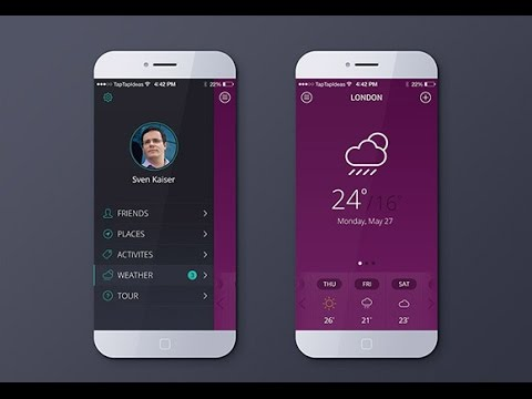 Best Mobile App, UI Design 2017, - mobile app design, trends 2017