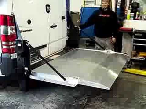 Tommy Gate Lift On Sprinter Youtube