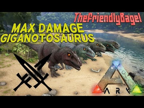 Ark max melee damage giganotosaurus youtube ark max melee damage giganotosaurus malvernweather Images