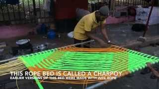 Amazing Weaver! Watch This Indian Man Weave A Bed