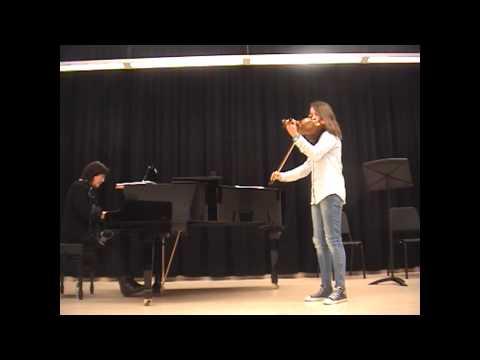 PAULA VIOLÍN- Concierto en el Conservatorio Profesional Pablo Sarasate de Pamplona