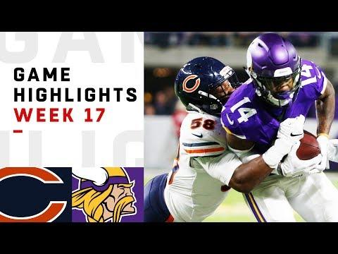 Bears vs. Vikings Week 17 Highlights | NFL 2018