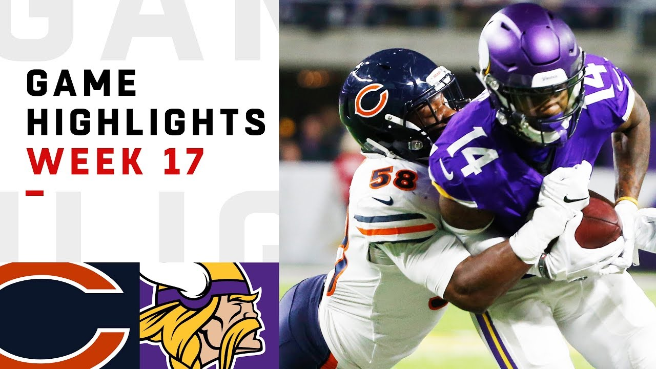 Bears vs. Vikings score updates, highlights for Week 17