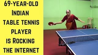 69 year old Table Tennis player is rocking the internet