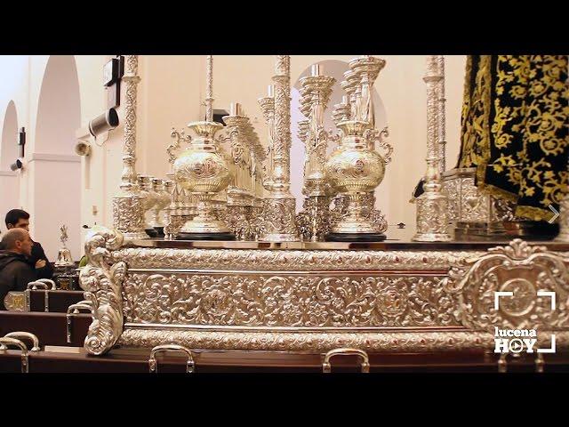 VÍDEO: El trono de la Virgen del Socorro vuelve a San Pedro Mártir tras su restauración integral