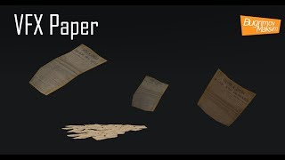 VFX Flying paper.