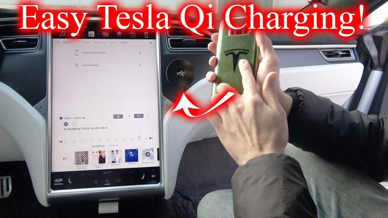 The Easiest Install Qi Charger for Tesla! - YouTube