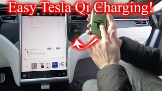 The Easiest Install Qi Charger for Tesla!
