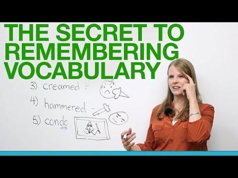 Bí mật để nhớ từ vựng