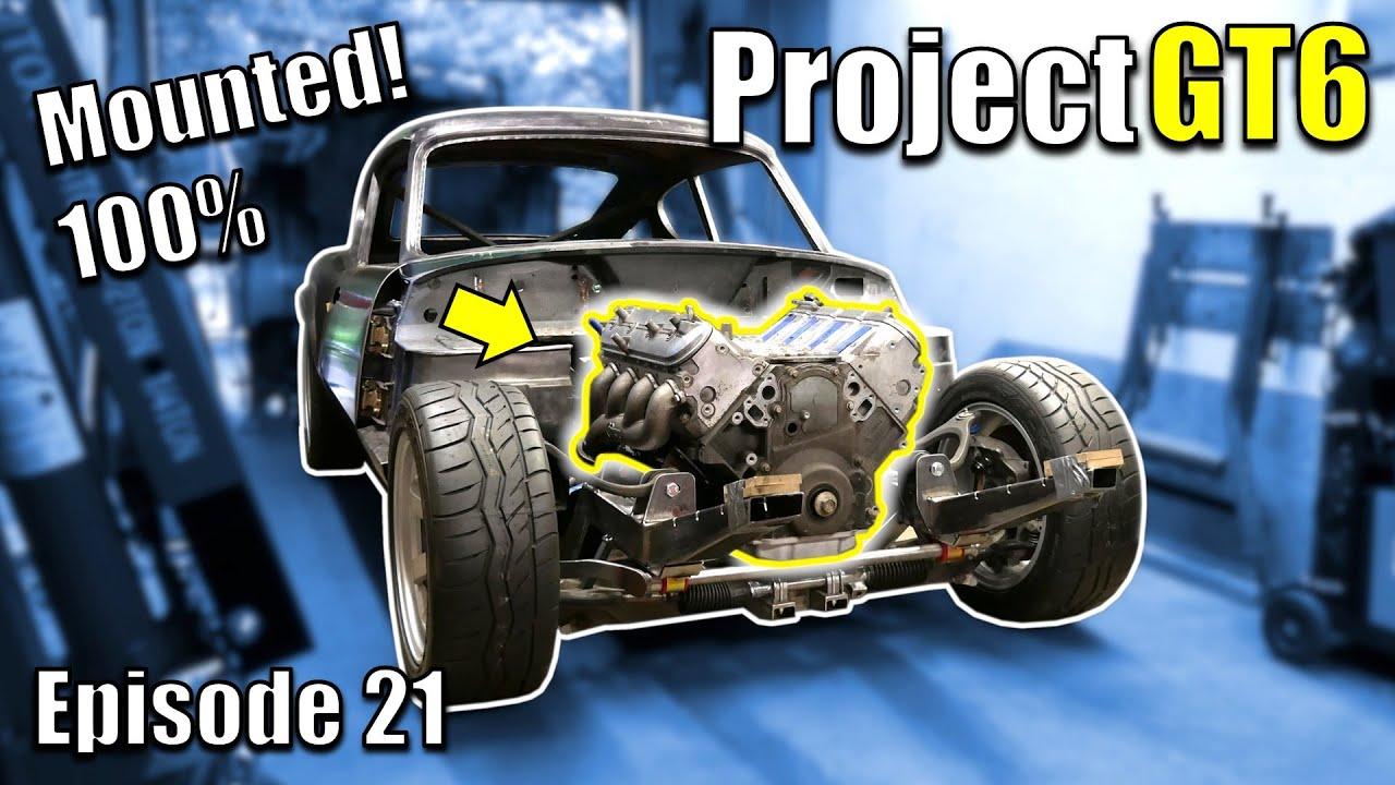 LS & T5 Mounted! V8 Powered Triumph Restomod - Project GT6 - Ep21 - Fanatik Builds