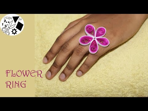 Paper Flower Ring - Easy Paper Crafts- Paper Flower Tutorial- DIY easy
