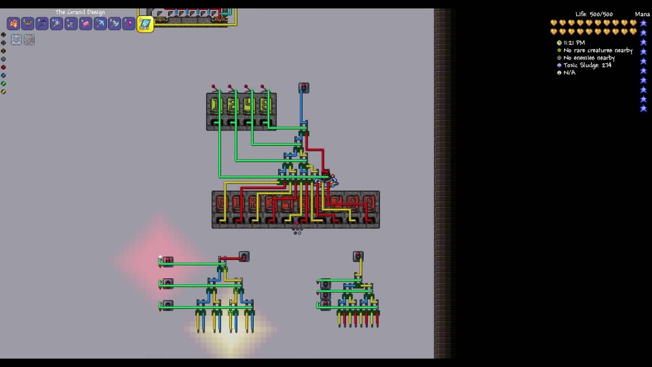 terraria 1 3 1 building giant logic gates also how to build a rh youtube com Terraria Heart Statue Wiring terraria wiring guide 1.2