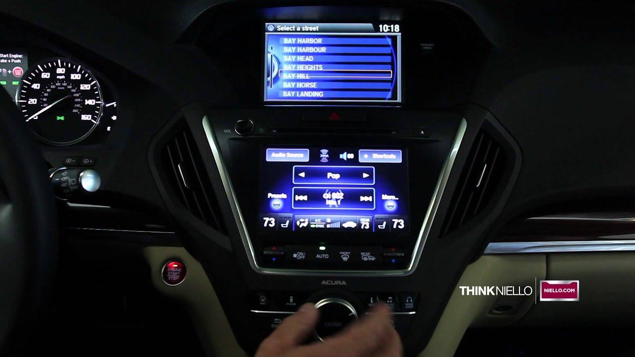 How To Input A Destination Into Navigation Acura MDX Niello - Acura navigation