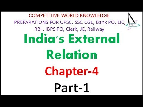 India's External Relation Part 1 Chapter 4 with Notes